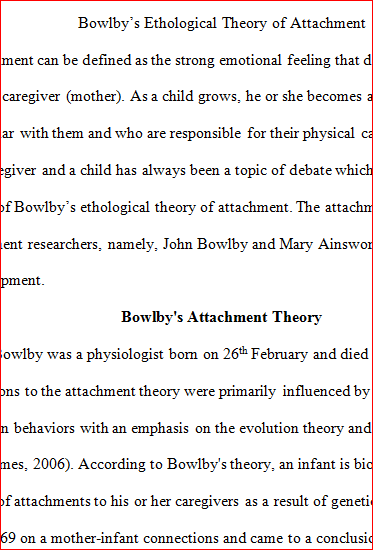 modifications of bowlbys attachment theory essay Full text of fractures of the orbit and injuries to the eye in war see other formats.