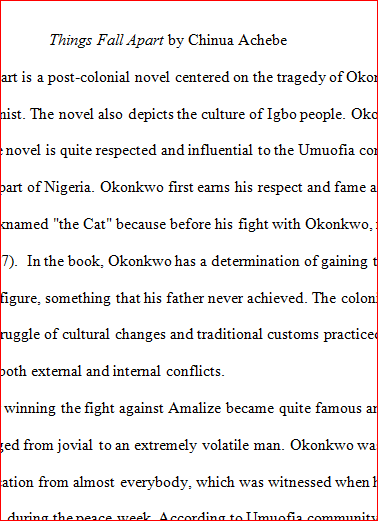 imperialists and imperialized people in the novel things fall apart by chinua achebe