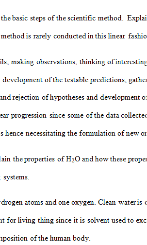 write a descriptive essay about the basic steps of the scientific method