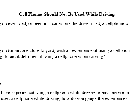 problem and solution for cell phone use while driving The problem and impact of texting while driving in the should drivers be prohibited from using cell phones the texting and driving problems in the.
