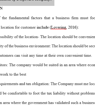 location decisions essay Retail employment has a higher impact on the retailers' location decision than   income growth, which is consistent with the second essay however, personal.